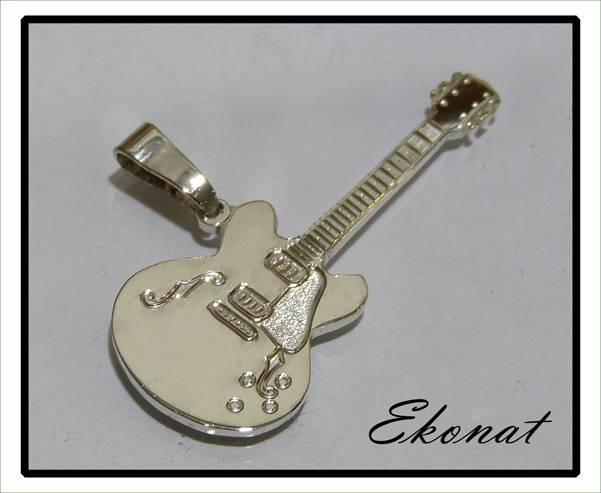 Colgante Guitarra de Plata 1