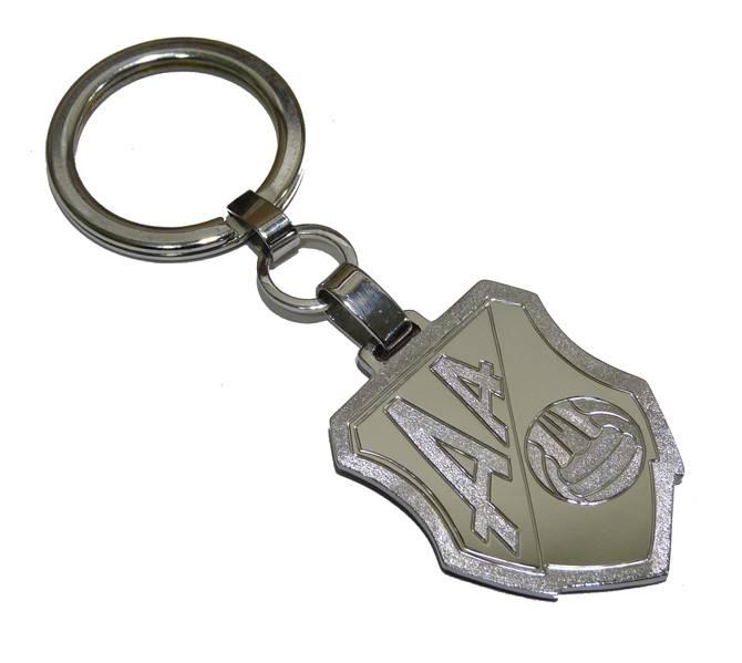 Llavero de plata con escudo