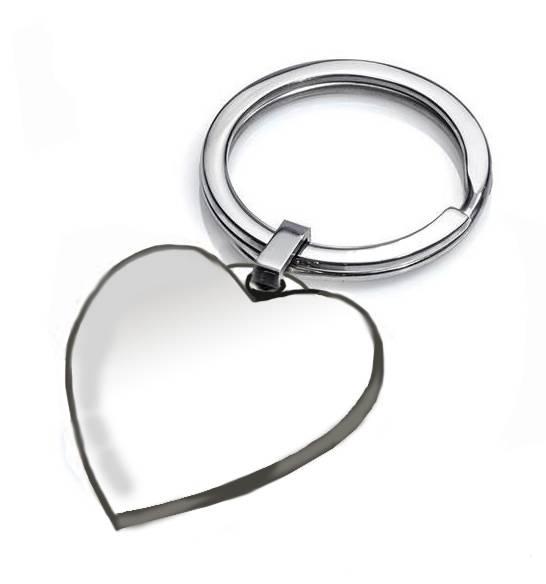 Llavero de plata de ley con corazón